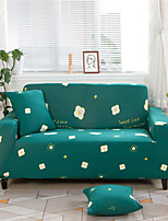 cheap -Green Floral Print Dustproof All-powerful Slipcovers Stretch Sofa Cover Super Soft Fabric Couch Cover with One Free Boster Case(Chair/Love Seat/3 Seats/4 Seats)