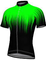cheap -21Grams Men's Short Sleeve Cycling Jersey Summer Spandex Polyester Green Gradient Bike Jersey Top Mountain Bike MTB Road Bike Cycling Quick Dry Moisture Wicking Breathable Sports Clothing Apparel