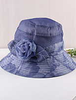 cheap -Vintage Style Elegant Organza / Polyester / Polyamide Hats / Headwear / Straw Hats with Pattern / Print / Appliques / Flower 1 PC Casual / Holiday Headpiece