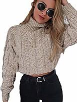 cheap -goddessvan turtleneck knitted sweater women sexy ladies high collar long sleeve pullover blouse khaki