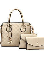 cheap -Women's Bags PU Leather Bag Set 3 Pcs Purse Set Date Office & Career Bag Sets Black Red Champagne Brown