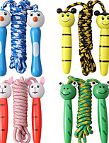 cheap -4 Pack Jump Ropes with Wood Handles for Kids - Animal Face Characters - 6.5 Feet Rope Length - Perfect for Children, Birthdays, Party Favors, Outdoor Fun