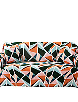 cheap -Colorful Triangle Print Dustproof All-powerful Slipcovers Stretch Sofa Cover Super Soft Fabric Couch Cover with One Free Boster Case(Chair/Love Seat/3 Seats/4 Seats)