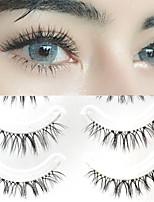 cheap -5 Pairs/Set Sharpened False Eyelashes W-7 Natural Cross Transparent Stem Segmented Upper Eyelashes 007 Natural False Eyelashes