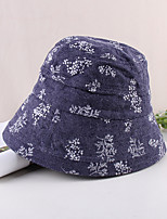 cheap -Vintage Style Elegant Polyester / Polyamide Hats / Headwear with Printing / Ruching / Color Block 1 PC Casual / Holiday Headpiece