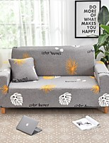 cheap -Grey Floral Print Dustproof All-powerful Slipcovers Stretch Sofa Cover Super Soft Fabric Couch Cover with One Free Boster Case(Chair/Love Seat/3 Seats/4 Seats)