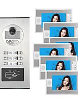 cheap -7 Inch Color Video Intercom Door Phone System RFID Metal IR Camera Doorbell For Multi Apartments Family