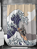 cheap -Waterproof Fabric Shower Curtain Bathroom Decoration and Modern and Classic Theme
