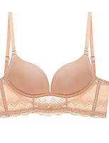 cheap -Women's Wireless 3/4 Cup Bras & Bralettes Solid Color Blushing Pink