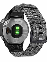 cheap -smartwatch band nylon watch strap for garmin fenix 6s / fenix 5s, 20 mm, quickfit, woven soft canvas, quick drying, strap for garmin fenix 5s plus, fenix 6s pro / sapphire / solar, gray