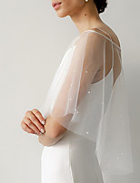 cheap -Half Sleeve Sweet Tulle Wedding / Wedding Party Women's Wrap With Beading / Solid
