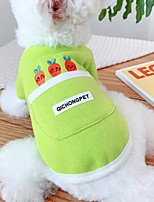 cheap -Dog Cat Sweatshirt Elegant Adorable Cute Dailywear Casual / Daily Dog Clothes Puppy Clothes Dog Outfits Breathable Yellow Green Costume for Girl and Boy Dog Fabric XS S M L XL XXL
