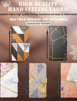 cheap -Phone Case For Apple Full Body Case iPhone 12 Pro Max 11 SE 2020 X XR XS Max 8 7 6 Card Holder Shockproof Dustproof Geometric Pattern Marble PU Leather