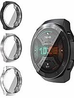 cheap -case for huawei watch gt 2e, ultra slim pc protective cover case cover for huawei watch gt 2e, black & silver & clear