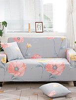 cheap -Floral Print Dustproof All-powerful Slipcovers Stretch L Shape Sofa Cover Super Soft Fabric Couch Cover with One Free Boster Case(Chair/Love Seat/3 Seats/4 Seats)