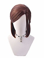 cheap -sunxxcos high temperature fiber the last of us 2 ellie cosplay wigs short for woman synthetic hair (ellie)