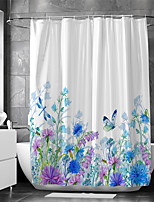 cheap -Waterproof Fabric Shower Curtain Bathroom Decoration and Modern and Flower