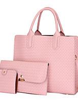 cheap -Women's Bags Bag Set Date Office & Career 2021 Black Red Blushing Pink Brown