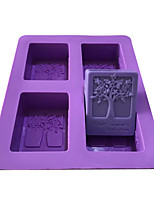 cheap -Purple Tree Baking Molds DIY Silicone Soap Mold Chocolate Cake Biscuit Molding Hand Making Tools