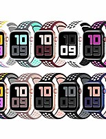cheap -10 pack sport bands compatible for apple watch bands 38mm 40mm 42mm 44mm, breathable soft silicone sport replacement wristband women men compatible with iwatch series se/6/5/4/3/2/1, s/m m/l