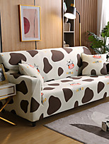 cheap -Cow Sofa Cover 1-Piece Couch Cover Fit for 1-4 Seater L-shape Couch Soft Stretch Slipcover Spandex Jacquard Fabric Easy to Install(1 Free Cushion Cover)