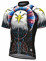 cheap -21Grams Men's Short Sleeve Cycling Jersey Summer Spandex Polyester Black Bird Bike Jersey Top Mountain Bike MTB Road Bike Cycling Quick Dry Moisture Wicking Breathable Sports Clothing Apparel