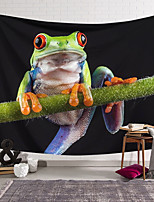 cheap -Wall Tapestry Art Decor Blanket Curtain Hanging Home Bedroom Living Room Decoration Polyester Green Frog