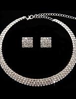 cheap -Women's Necklace Earrings Earrings Jewelry Silver For Wedding 1 set