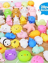 cheap -28PCS Mochi Squishy Toys Party Favors for Kids Mini Squishy Kawaii Animal Squishies Squeeze Toy Cat Squishy Stress Relief Toys for Adults Goodie Bag Filler Birthday Favors for Kids Random