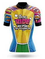 cheap -21Grams Women's Short Sleeve Cycling Jersey Summer Spandex Polyester Yellow Bike Jersey Top Mountain Bike MTB Road Bike Cycling Quick Dry Moisture Wicking Breathable Sports Clothing Apparel