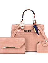 cheap -Women's Bags Bag Set Date Office & Career 2021 White Black Red Blushing Pink