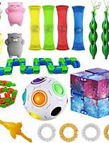 cheap -20 pcs  Fidget Sensory Toy Set Stress Relief Toys Autism Anxiety Relief Stress Pop Bubble Fidget Toys For Kids Adults
