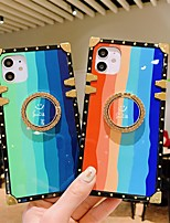 cheap -Phone Case For Apple Back Cover iPhone 12 Pro Max 11 SE 2020 X XR XS Max 8 7 Shockproof Dustproof Ring Holder Color Gradient TPU