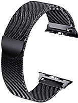 cheap -smartwatch band replacement bracelet compatible with apple watch bracelet 40mm 38mm, metal stainless steel bracelet with magnet compatible with iwatch series 6/5/4/3/2/1, black