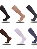 cheap -10 Pairs Pure Color Long Tube Compression Socks Spring And Summer Leisure Sports shaping Compression Socks