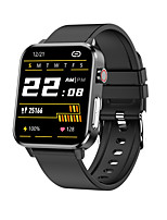 cheap -E86 Unisex Smartwatch Bluetooth Heart Rate Monitor Blood Pressure Measurement Calories Burned Thermometer Message Control ECG+PPG Stopwatch Pedometer Call Reminder Activity Tracker
