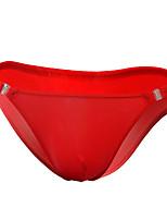 cheap -Men's 1 PC Basic Briefs Underwear Low Waist White Purple Red One-Size