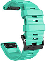 cheap -Smartwatch band bracelet for garmin fenix 6x / fenix 6x pro / fenix 5x / fenix 5x plus / fenix 3 / fenix 3 hr, 26mm wide silicone estraz strap quick-fit watch strap