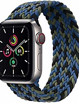 cheap -Smart watch band sport watch bands compatible for braided solo loop apple watch strap 38mm 40mm 42mm 44mm,soft stretchy braided wristband for iwatch series 1/2/3/4/5/56/se