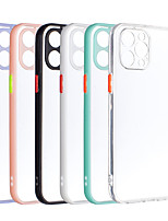 cheap -Phone Case For Apple Back Cover iPhone 12 Pro Max 11 SE 2020 X XR XS Max 8 7 6 Shockproof Dustproof Solid Colored TPU