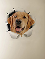 cheap -3D Broke the Wall Effect Dog Cartoon Home Children's Room Background Decoration Can Be Removed Stickers