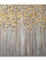 cheap -Oil Painting Handmade Hand Painted Wall Art Landscape Golden Trees Grey Home Decoration Dcor Stretched Frame Ready to Hang