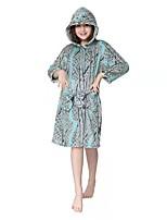 cheap -Kid's Kigurumi Pajamas Cartoon Onesie Pajamas Flannel Fabric Gray Cosplay For Boys and Girls Animal Sleepwear Cartoon Festival / Holiday Costumes / Waist Belt