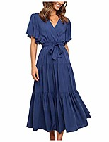 cheap -aodong women sexy club dresses women's summer bohemian floral printed strapless maxi dress with side slit and ruched waist dark blue