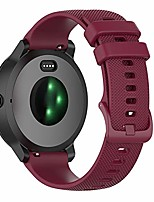 cheap -Smartwatch band wristband for garmin vivoactive 3.20mm premium silicone quickfit wristbands for garmin vivoactive 3 / vivoactive 3 music / forerunner 245/645 music (red wine)