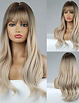 cheap -haircube long wavy wigs synthetic hair wigs for women natural looking curly heat wigs for daily use wig(blonde)