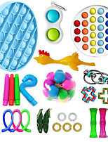 cheap -29 pcs Fidget Toys Anti Stress Toy Stretchy Strings Mesh Marble Relief Gift For Adults Children Sensory Antistress Relief Toys