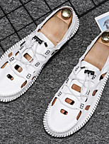 cheap -Men's Sandals Sporty Look Casual Daily Upstream Shoes PU Breathable Non-slipping Wear Proof White Black Beige Summer