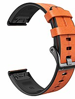 cheap -smartwatch band leather strap for garmin fenix 5x / fenix 5x plus / fenix 6x / fenix 6x pro / fenix 3 / fenix 3 hr 26mm quick-fit replacement smartwatch band (light brown)