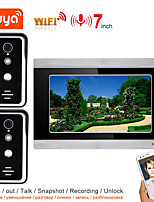 cheap -TUYA Video Intercom WIFI Video Door Phone System Home  Intercom with 7 Inch 1-monitor 2-camera